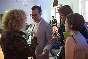 CHUS MARTINEZ; CAROLYN CHRISTOV-BARKARGIEV; VADIM GRIGORIAN, Introduction to art initiative by Absolut Art Bureau new format of Absolut Art Award, By Vadim Grigorian and Carolyn Christov-Bakargiev at Standehaus<br /> Documenta ( 13 ), Kassel, Germany. 14 September 2012.