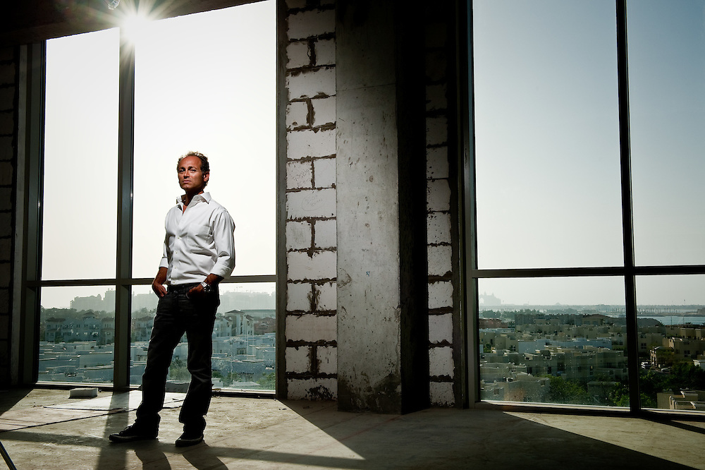 Interior Architect, Abboud Malak poses at one of his project sites for a portrait on Wednesday, April 15, 2009.