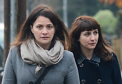 © Licensed to London News Pictures. 27/01/14 The Metropolitan Police Service (MPS) have stated there will be no further action by police against NIGELLA LAWSON in connection with drug use. FILE PICTURE DATED 10/12/2013. London, UK. Italian Sisters Elisabetta 'Lisa' (L) and Francesca ( in dark jacket) Grillo, who are the former personal assistants to Charles Saatchi and Nigella Lawson, arriving at Isleworth Crown Court in London. The pair, who face fraud charges, are accused of misappropriating funds while working for Saatchi and Lawson.Photo credit : Peter Kollanyi/LNP