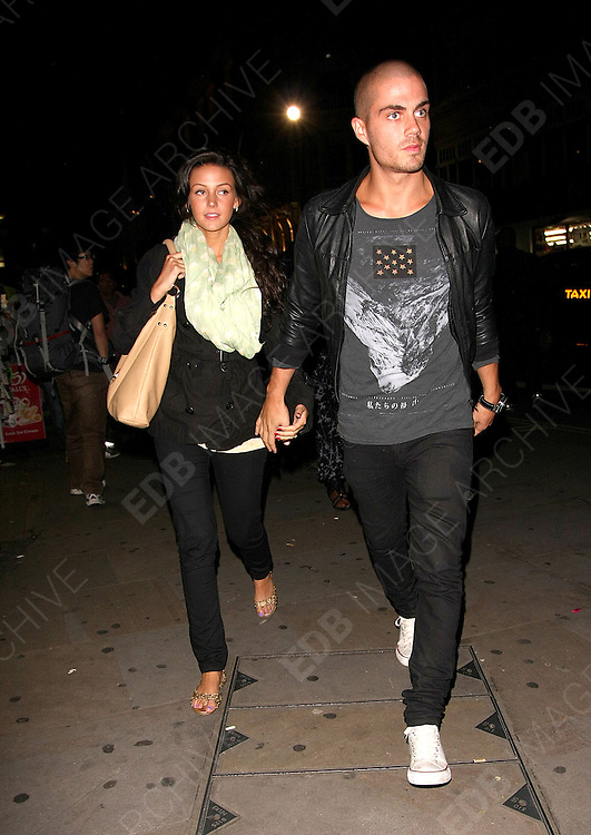 09.SEPTEMBER.2011. LONDON<br /> <br /> MAX GEORGE AND MICHELLE KEEGAN OUT IN LEICESTER SQUARE<br /> <br /> BYLINE: EDBIMAGEARCHIVE.COM<br /> <br /> *THIS IMAGE IS STRICTLY FOR UK NEWSPAPERS AND MAGAZINES ONLY*<br /> *FOR WORLD WIDE SALES AND WEB USE PLEASE CONTACT EDBIMAGEARCHIVE - 0208 954 5968*