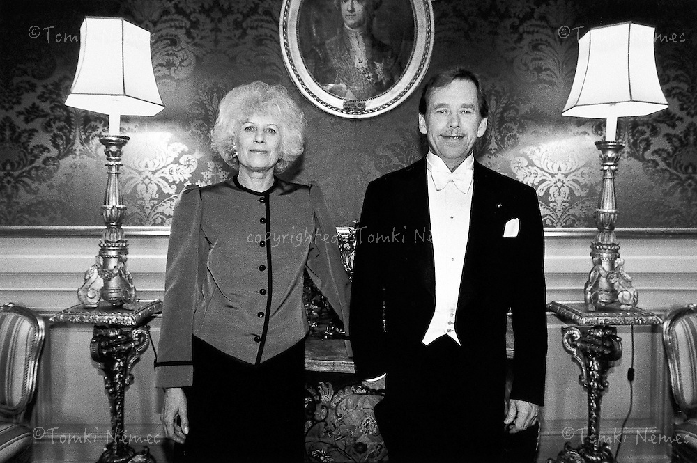 Sweden, 22 May 1991 - Stockholm.Before a gala evening with King Carl XVI Gustaf during a state visit to Sweden..
