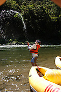 Family rafting trip on the Rogue River, Oregon.  June 2006.