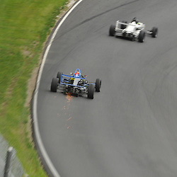 May 23, 2009; Lakeville, CT, USA; Chris Miller bottoms out while chasing the leader, Ben Searcy in the first Formula 2000 Championship Series race during the Memorial Day Road Racing Classic weekend at Lime Rock Park.