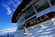 Image of Washington State Ferry from Bainbridge Island to Seattle on Puget Sound, Seattle, Washington, Pacific Northwest