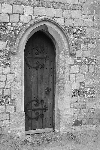 Iron Hinged Wooden Door - Avebury UK - Black \u0026 White & Iron Hinged Wooden Door - Avebury UK - Black \u0026 White | Bill Edwards ...