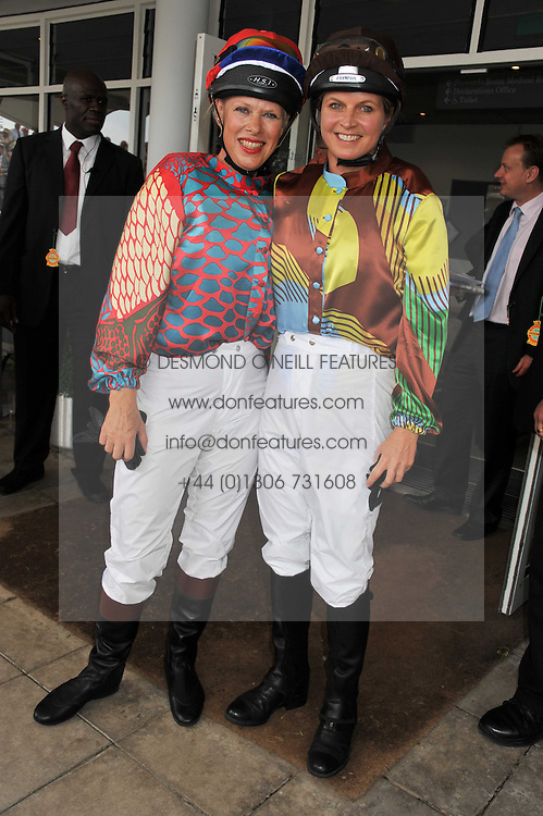 Left to right, NETTE MASON and the MARCHIONESS OF MILFORD-HAVEN at the 3rd day of the 2011 Glorious Goodwood Racing Festival - Ladies Day at Goodwood Racecourse, West Sussex on 28th July 2011.