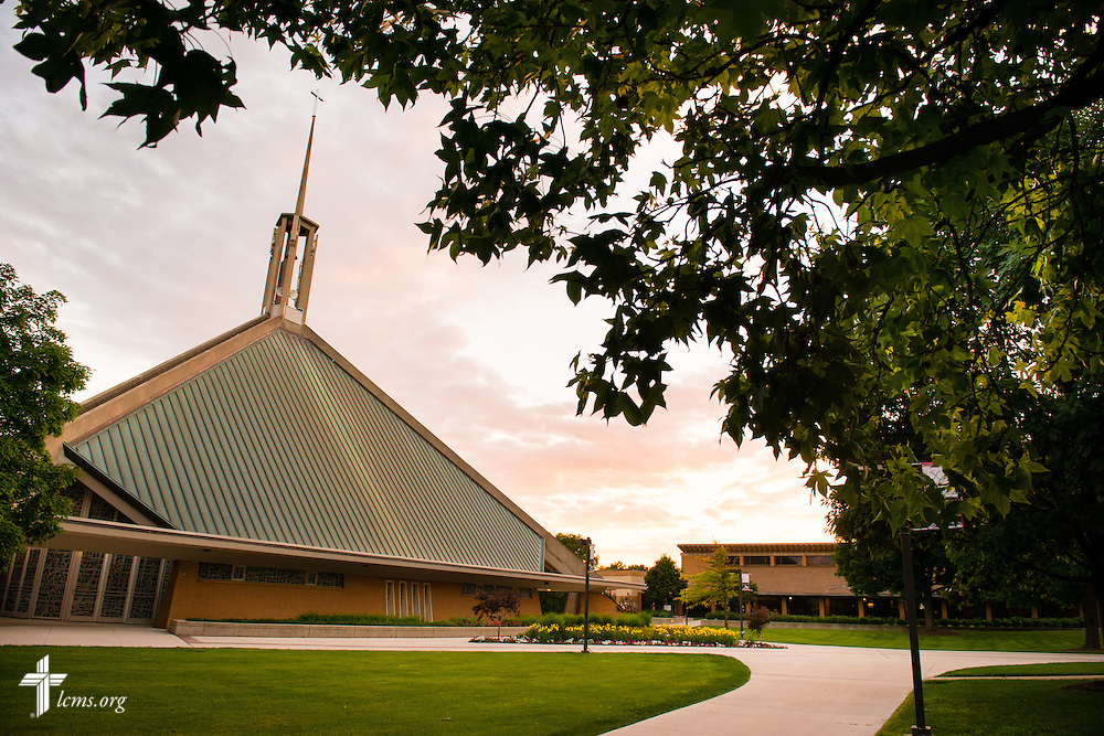 An exterior photograph of the Chapel of the Holy Trinity at Concordia University Ann Arbor on Wednesday, July 2, 2014, in Ann Arbor, Mich. LCMS Communications/Erik M. Lunsford
