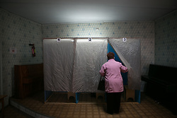 Referendum starts in Crimea. People vote in Simferopol and other parts of Crimean Peninsula, . Sunday, 16th March 2014. Picture by Daniel Leal-Olivas / i-Images
