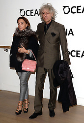 Jeanne Marine and Bob Geldof attend Oceana's Junior Ocean Council - Fashions For the Future at Phillips Auction House, Berkeley Square, London on Thursday 19 March 2015