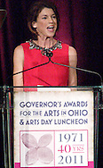 Ohio First Lady Karen Kasich delivers the welcome address during the Governor's Awards for the Arts in Ohio & Arts Day Luncheon at the Athenaeum in downtown Columbus, Ohio, Wednesday, May 11, 2011.