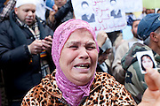 Tunis, Tunisia. January 26th 2011.In front the Ministry of justice and human rights, protesters demand to release political prisoners......