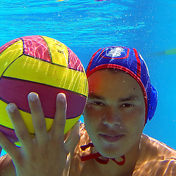 Los Altos water polo player Justin Contreras at Los Altos High School in Hacienda Heights, Calif., on Friday, Sept. 5, 2014.
