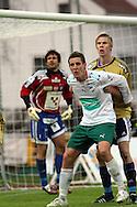 28.04.2008, Wikl?f Holding Arena, Mariehamn, Finland..Veikkausliiga 2008 - Finnish League 2008.IFK Mariehamn - HJK Helsinki.Andreas Bj?rk (IFK Mhamn) v Jukka Sauso (HJK).©Juha Tamminen.....ARK:k