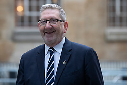 © Licensed to London News Pictures. 26<br /> /01/2020. London, UK. General Secretary of the Unite Union Len McCluskey arrives at the BBC. Later he will appear on the Andrew Marr Show. Photo credit: George Cracknell Wright/LNP
