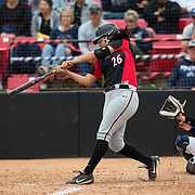 12 May 2018: San Diego State infielder Kelsey Munoz seen here during an at bat in the fifth inning. San Diego State women's softball closed out the season against Utah State with a 4-3 win on seniors day and sweep the series. <br /> More game action at sdsuaztecphotos.com