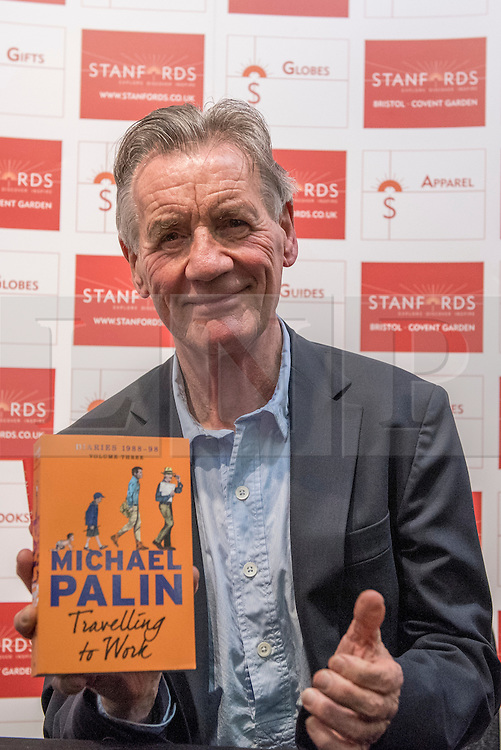 © Licensed to London News Pictures. 02/02/2017. London, UK. Michael Palin, TV presenter and Monty Python member, at a book signing at the Destinations: The Holiday & Travel Show, taking place at Olympia, 2 - 5 February, which brings together leading tour operators, exhibitors and more to provide the visitors with inspiration to travel to new destinations. Photo credit : Stephen Chung/LNP