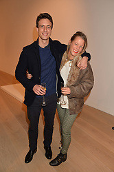 DAVINA HARBORD and HENRY HIGHLEY at an evening of Fashion, Art & design hosted by Ralph Lauren and Phillips at the new Phillips Gallery, 50 Berkeley Square, London on 22nd October 2014.