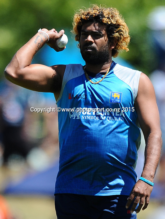 Sri Lanka player Lasith Malinga during Match 4 of the ANZ One Day International Cricket Series between New Zealand Black Caps and Sri Lanka at Saxton Oval, Nelson, New Zealand. Tuesday 20 January 2015. Copyright Photo: Chris Symes/www.Photosport.co.nz