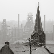 Church and Blast Furnaces, Bethlehem Steel Mill, Bethlehem, PA