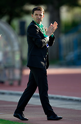 Coach of Olimpija Dusan Kosic during football match between NK Triglav Gorenjska and NK Olimpija in 27th Round of Slovenian 1st League PrvaLiga, on April 10, 2011 in Sports park Kranj, Slovenia. (Photo By Vid Ponikvar / Sportida.com)