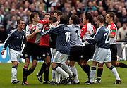 Photo: Gerrit de Heus. Rotterdam. 11/04/04..Feyenoord-Ajax. Relletje.
