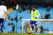 Chelsea's Cesc Fabregas warms up before the Premier League match between Manchester City and Chelsea at the Etihad Stadium, Manchester, England on 3 December 2016. Photo by Simon Brady.