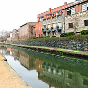 The historic Chesapeake & Ohio Canal in Georgetown