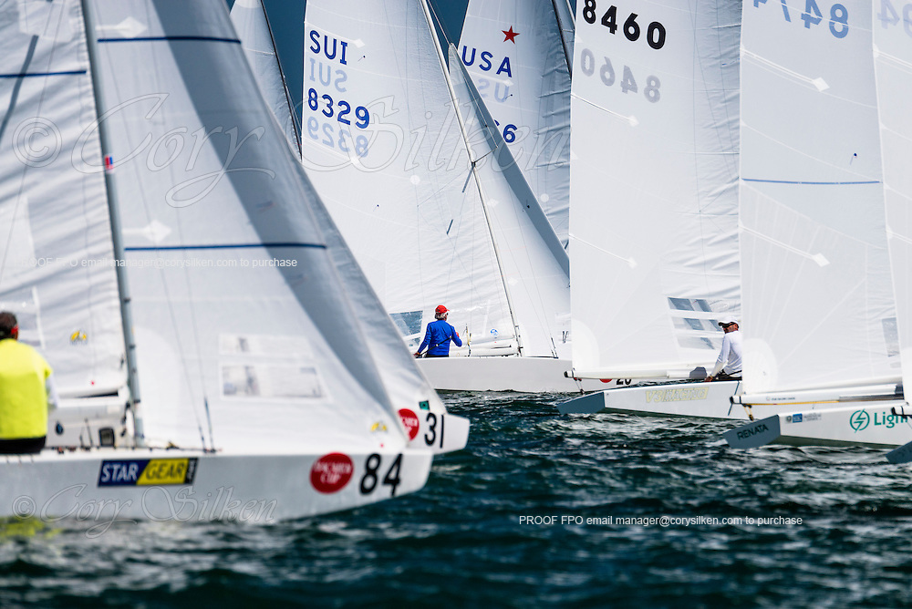 Star Class start at Bacardi Miami Sailing Week, day one.