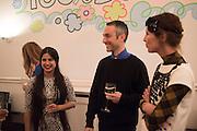 SOL CALERO; PABLO BRONSTEIN; VALERIA NAPOLEONE, Valeria and Gregorio Napoleone and Joe Scotland host a dinner at therir home in Kensington  in celebration of Sol  Calero's commission at Studio Voltaire.  London. 13 October 2015