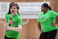 "Town of Wallkill, New York - John S. Burke Catholic High School students perform a sample of the musical ""Honk"" in the 2017 All-County Musical Showcase and Visual Arts Display at the Galleria at Crystal Run on Feb. 25, 2017."