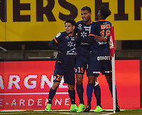 But et joie de Mounie - Mbenza -  Dolly<br /> <br /> FOOTBALL : Nancy vs Montpellier - Ligue 1 - 11/02/2017<br /> <br /> Norway only