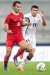 24.05.2012, Red Bull Arena, Salzburg, AUT, SLFC Summerleague, Tuerkei vs Georgien, im Bild Hamit Altintop, (TUR, #6) Vladimer Dvalishvili, (GEO, #11) // Hamit Altintop, (TUR, #6) Vladimer Dvalishvili, (GEO, #11)  during friendly Football Match between the Nationateams of Turkey and Georgia at the Red Bull Arena, Salzburg, Austria on 2012/05/24. EXPA Pictures © 2012, PhotoCredit: EXPA/ Juergen Feichter