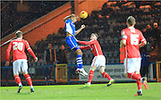 Rhys Bennett scores for Rochdale during the Sky Bet League 1 match between Rochdale and Crewe Alexandra at Spotland, Rochdale, England on 16 February 2016. Photo by Daniel Youngs.