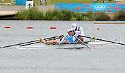 Eton Dorney, Windsor, Great Britain,..2012 London Olympic Regatta, Dorney Lake. Eton Rowing Centre, Berkshire[ Rowing]...Description;   Men's Double Sculls, Silver Medalist  ITA M2X. Alessio SARTORI (b) , Romano BATTISTI (s).   Dorney Lake. 11:57:50  Thursday  02/08/2012.  [Mandatory Credit: Peter Spurrier/Intersport Images].Dorney Lake, Eton, Great Britain...Venue, Rowing, 2012 London Olympic Regatta...