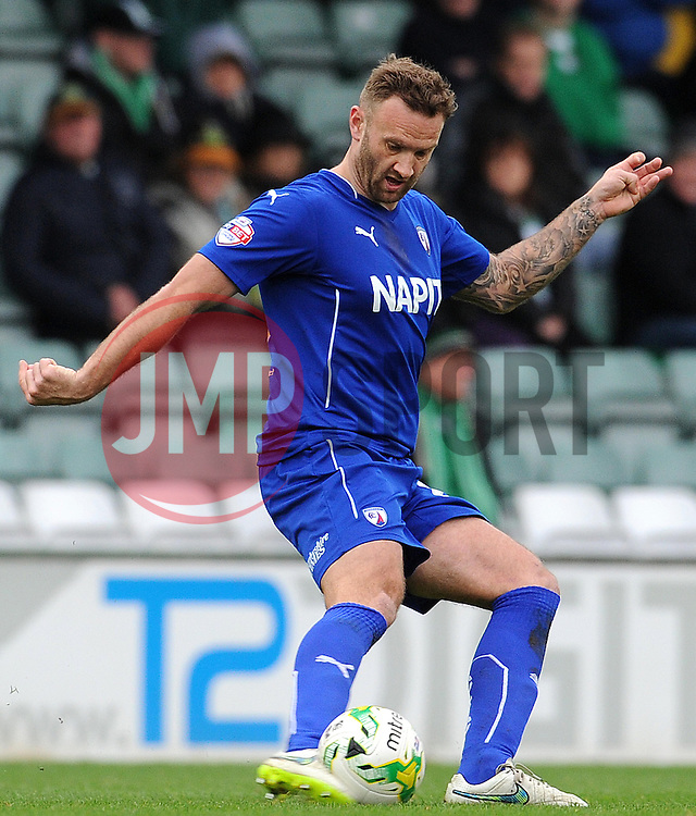 Chesterfield's Ian Evatt - Photo mandatory by-line: Harry Trump/JMP - Mobile: 07966 386802 - 03/04/15 - SPORT - FOOTBALL - Sky Bet League One - Yeovil Town v Chesterfield - Huish Park, Yeovil, England.