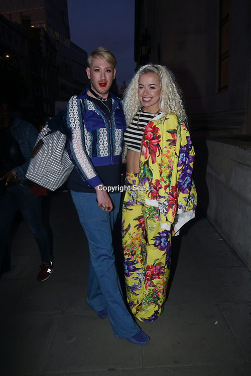 London, England, UK. 17th September 2017.Lewis Duncan Weedon and Lemon is a singer/songwriter and on X Factor attends FASHION SCOUT SS18 Day 3 at Freemasons Hall.