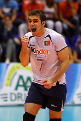 01-09-2012 VOLLEYBAL: WORLD LEAGUE 2013 QUALIFICATION NETHERLANDS - PORTUGAL : ROTTERDAM<br /> Casas Ivo celebrates a point