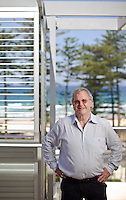 Jim Sloman on the Latitude 33 building site in Manly, Sydney.