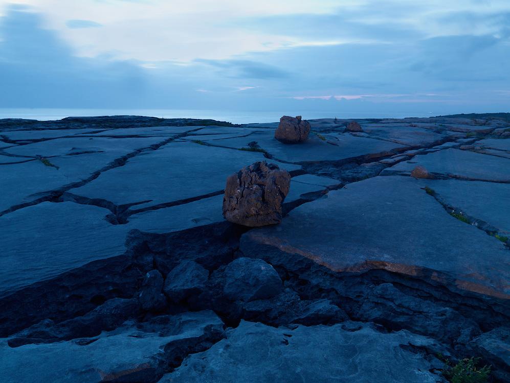 Burren coast at night, Ireland