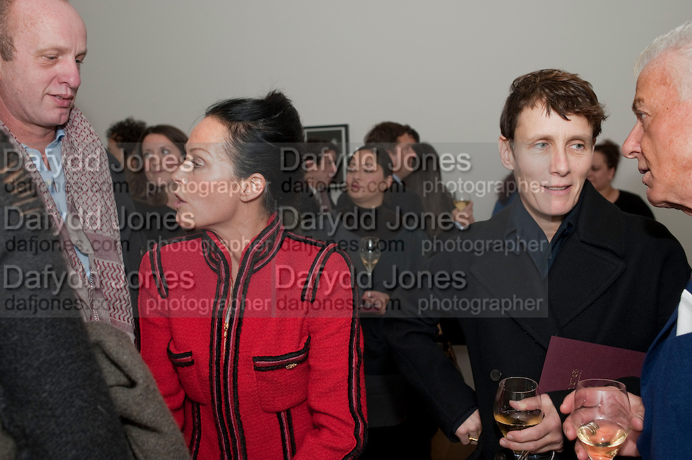 JOHNNIE SHAND KYDD; LADY MANDA HARLECH; SOPHIE HICKS; NICKY HASLAM, THE LAUNCH OF THE KRUG HAPPINESS EXHIBITION AT THE ROYAL ACADEMY, London. 12 December 2011.