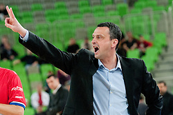 Dejan Radonjic, Head Coach of Buducnost, during first semi-final match of Basketball NLB League at Final four tournament between KK Partizan mt:s, Belgrade, Serbia and KK Buducnost m:tel, Podgorica, Montenegro, on April 19, 2011 at SRC Stozice, Ljubljana, Slovenia. (Photo By Matic Klansek Velej / Sportida.com)