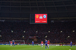 MOSCOW, RUSSIA - Wednesday, May 21, 2008: After the end of 90 minutes the scores are level at Manchester United 1-1 Chelsea during the UEFA Champions League Final at the Luzhniki Stadium. (Photo by David Rawcliffe/Propaganda)