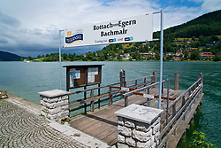 ROTTACH-EGERN, GERMANY - Wednesday, July 26, 2017: A tourist cruise boat jetty on Lake Tegernsee from Rottach-Egern, the base for Liverpool's preseason training camp in Germany. (Pic by David Rawcliffe/Propaganda)