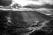 Kirkstone Pass and the Struggle, from Red Screes, Cumbria, The Lake District.