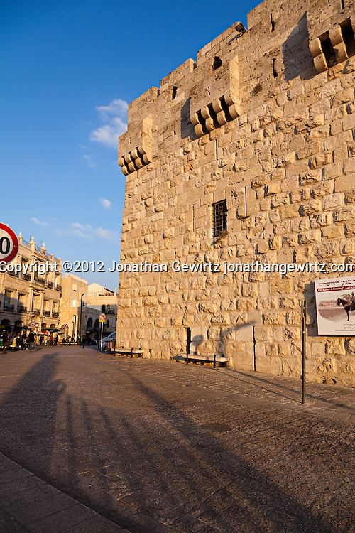 The Jaffa Gate of the Old City of Jerusalem. WATERMARKS WILL NOT APPEAR ON PRINTS OR LICENSED IMAGES.