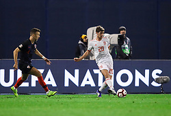 Sergi Roberto of Spain during the UEFA Nations League football match between Croatia and Spain, on November 15, 2018, at the Maksimir Stadium in Zagreb, Croatia. Photo by Morgan Kristan / Sportida