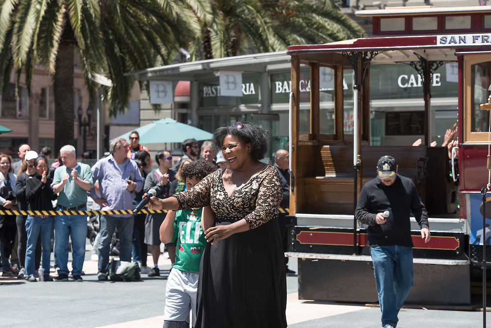 Jazz Singer Amanda King Performing in the Amateur Competition at the 54th Annual Cable Car Bell Ringing Contest | July 13, 2017