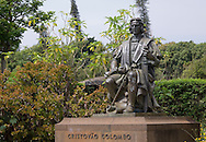 A statue of Christopher Columbus, Funchal, Madeira, Portugal