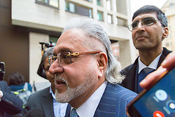 London, December 04 2017. United Breweries and Force India F1 boss Vijay Mallya arrives at Westminster Magistrates Court for his extradition hearing. He is wanted by Indian authorities to answer fraud charges. © Paul Davey