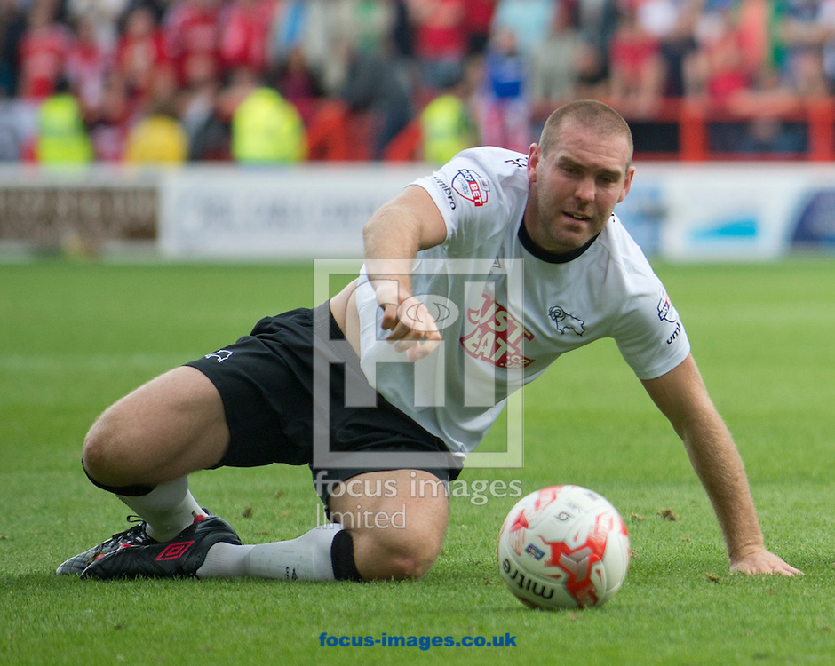 Jake Buxton of Derby County during the Sky Bet Championship match at the City Ground, Nottingham<br /> Picture by Russell Hart/Focus Images Ltd 07791 688 420<br /> 14/09/2014